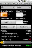 Screenshot of Brewzor Calculator DONATE