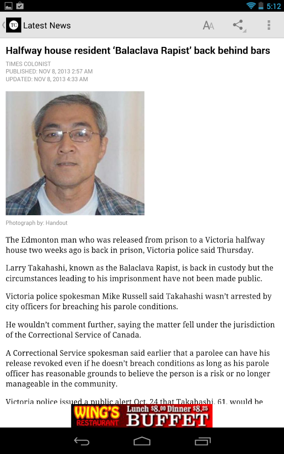 Victoria Times Colonist - screenshot