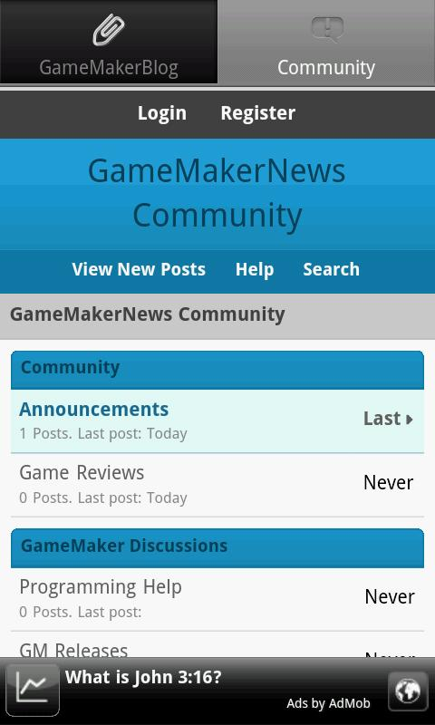 GameMakerNews - screenshot
