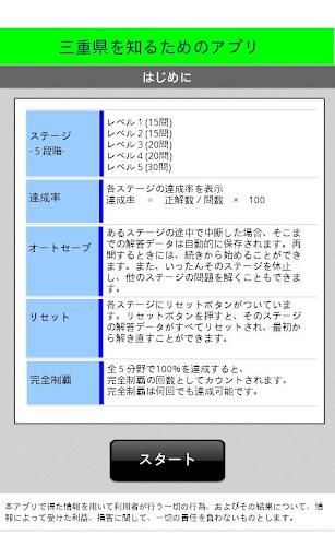 三重県を知るためのアプリ