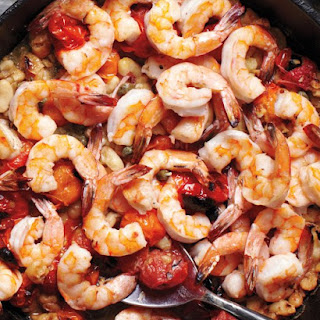 Broiled Shrimp with Tomatoes and White Beans