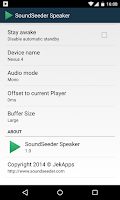 Screenshot of SoundSeeder Speaker