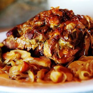 Pork Roast with Apples and Onions.