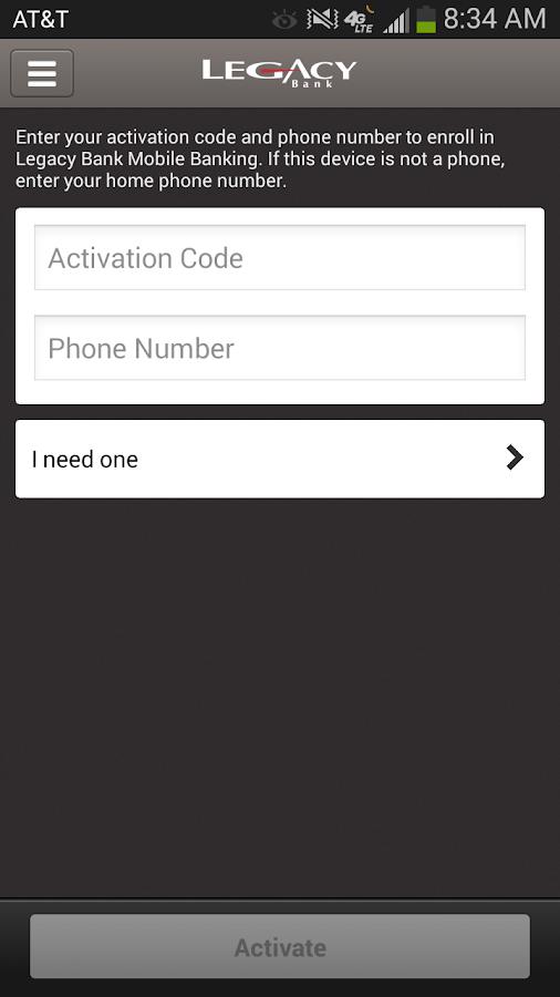 Legacy Bank Mobile - screenshot