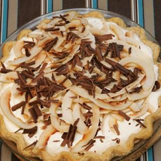 Coconut Cream Pie with Whipped Cream.