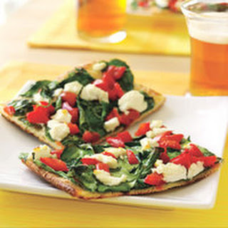 Goat Cheese-Spinach Pizza.