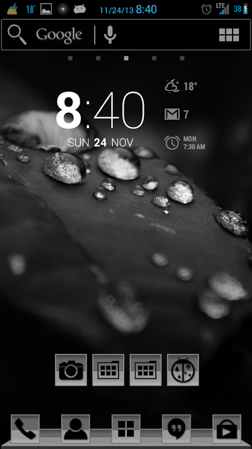 The Greys Apex/Nova/ADW Theme- screenshot