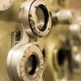 Eye Exam Equipment by E.g. Orren - Artistic Objects Healthcare Objects ( exam equipment testing medical,  )