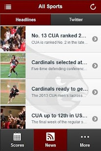 CUA Cardinals Front Row - screenshot thumbnail