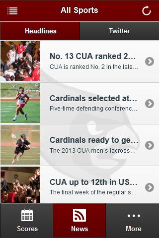 CUA Cardinals Front Row - screenshot