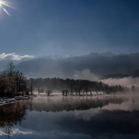 Lakeland landscape! by Jože Borišek - Landscapes Weather ( bohinj-slovenia )