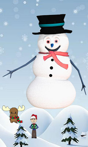 Snowman Touch Live Wallpaper