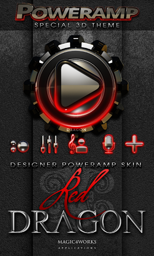 Poweramp skin Red Dragon