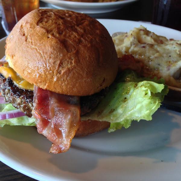 Gluten free cheeseburger! Soooo good!