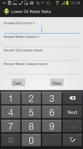 Lower Oil Water Ratio