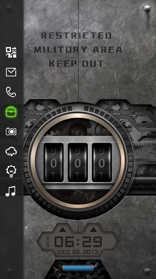 Code Lock Live Locker Theme - screenshot