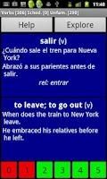 Screenshot of Spanish Basic Vocabulary Pro