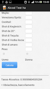 Alcool Test Ita - Test Etilico - screenshot thumbnail