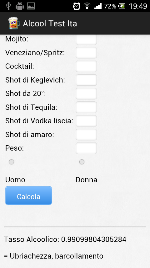 Alcool Test Ita - Test Etilico - screenshot