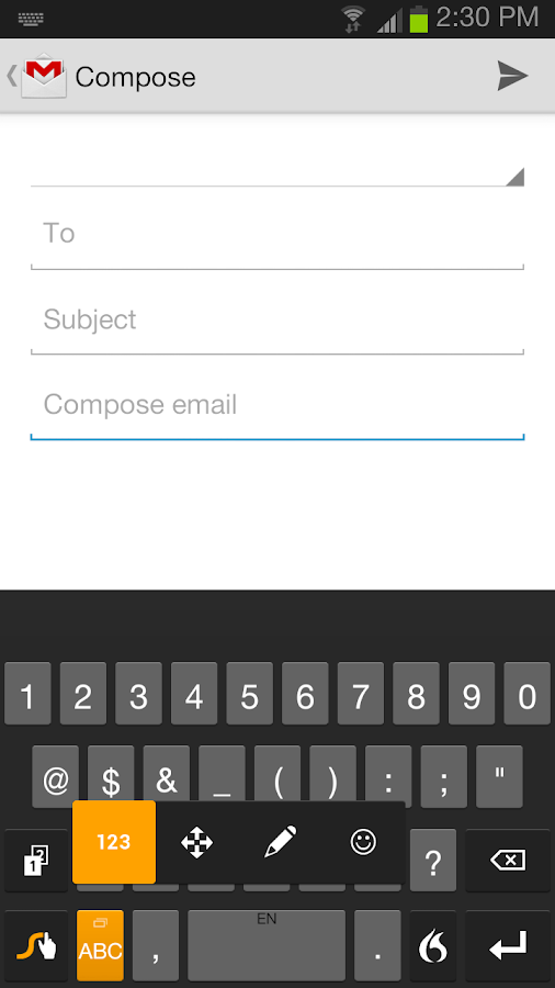 Swype Keyboard Free - screenshot