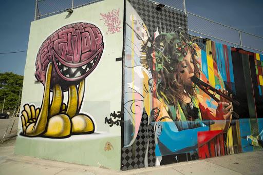 Miami-Wynwood-Wall-Art - Murals in the Wynwood Art District in Miami.