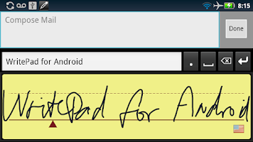 Screenshot of WritePad