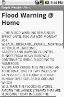 Screenshot of Simple Weather Alert