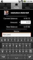 Screenshot of FaceCash Wallet