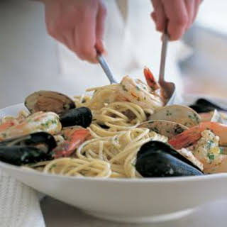 Spaghetti with Mixed Seafood.