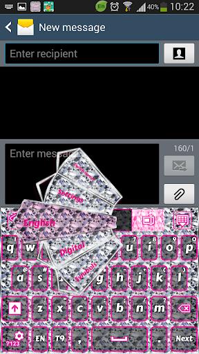 キーボードピンクダイヤモンドをGO