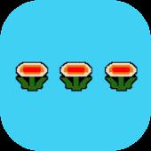 EvolveSMS Theme 8 Bit Flowers