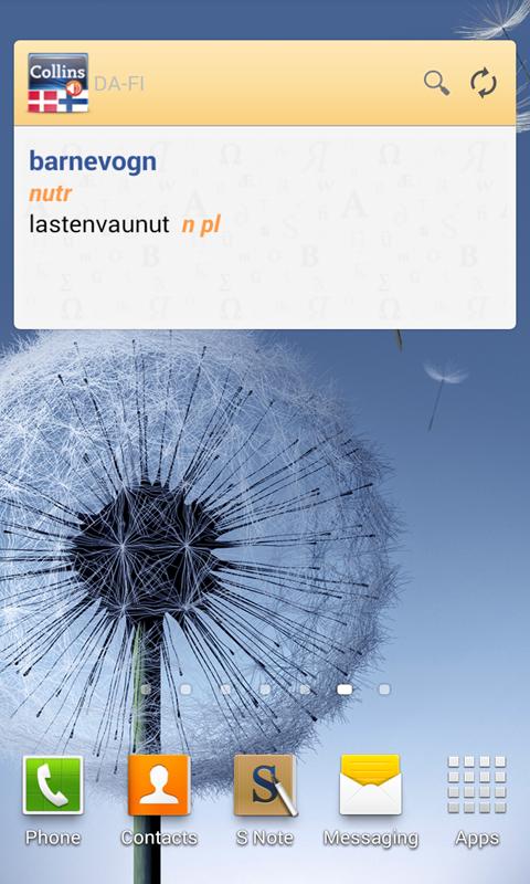 Danish-Finnish Dictionary TR - screenshot