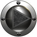 poweramp skin black snake icon