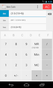 bin.Calc (radix-calculator)- screenshot thumbnail