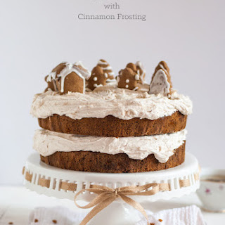 Gingerbread Cake with Cinnamon Buttercream + Gingerbread Cookie Recipe (Gluten-Free!)