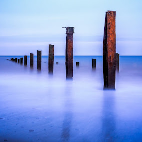 Into the Sea by Rashid Ramdan - Landscapes Waterscapes ( water, waterscape, helgoland, germany, long exposure, beach, landscape )