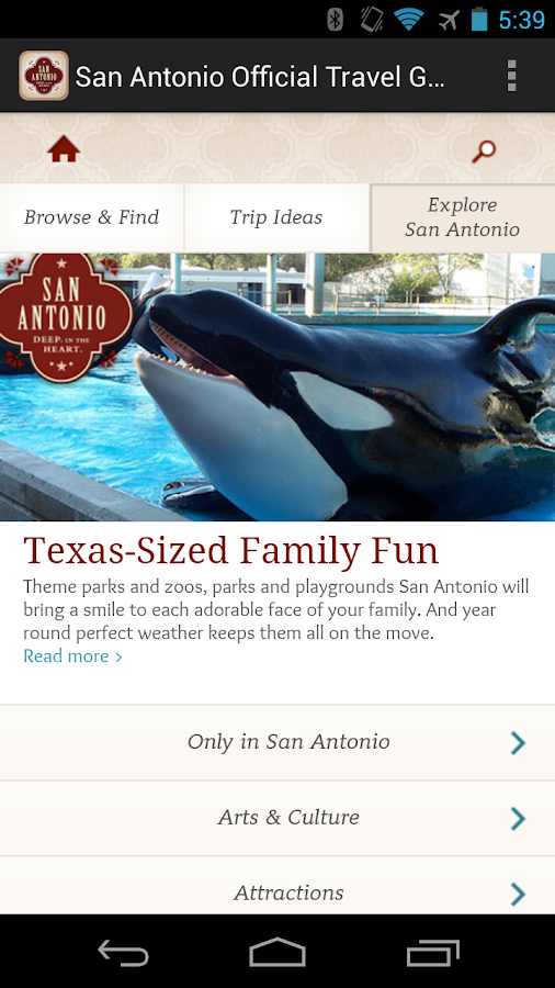 San Antonio Official Guide - screenshot