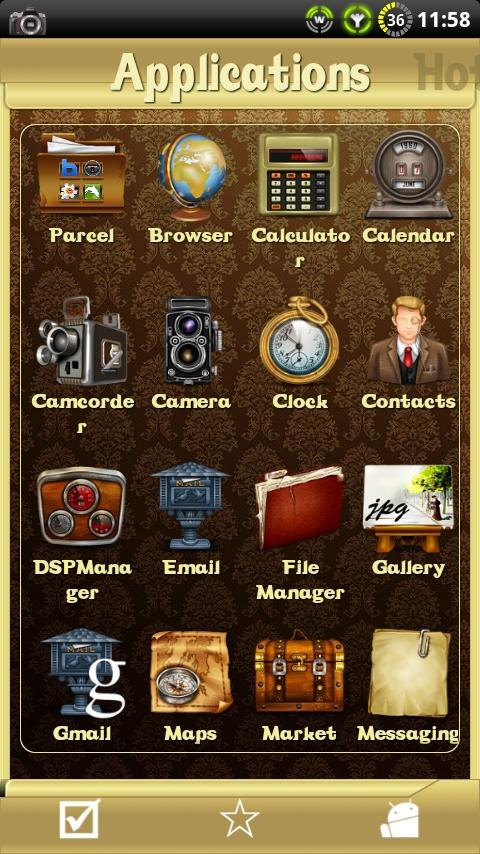 Vintage theme for ssLauncher- screenshot