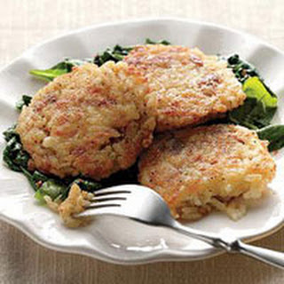Cheesy Rice Fritters.