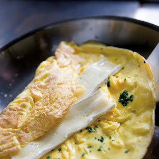 Lots-of-Herbs Omelet Stuffed with Brie.