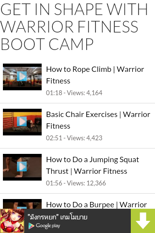 Warrior Fitness Boot Camp