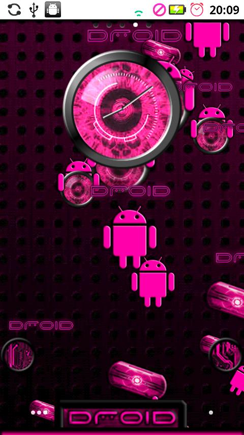 DROID Theme PINK Extreme - screenshot