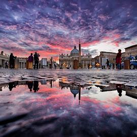 by Marco Carotenuto - Buildings & Architecture Public & Historical ( rome, sunset, san pietro, architecture, reflex )