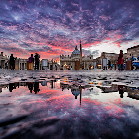 by Marco Carotenuto - Buildings & Architecture Public & Historical ( rome, sunset, san pietro, architecture, reflex )