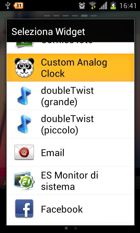 Panda Analog Clock Widget - screenshot