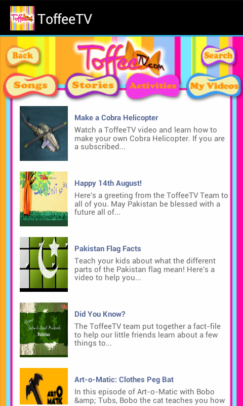 ToffeeTV-Urdu Songs & Stories!- screenshot