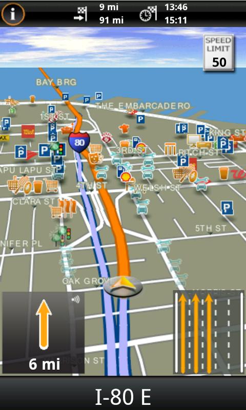 Garmin HUD North America - screenshot