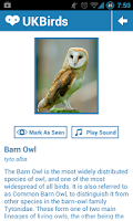 Screenshot of UK Birds - Birdwatching App