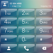 Dialer theme Pastel Glass