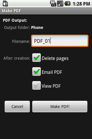 Scan2PDF Mobile 2.0 - screenshot